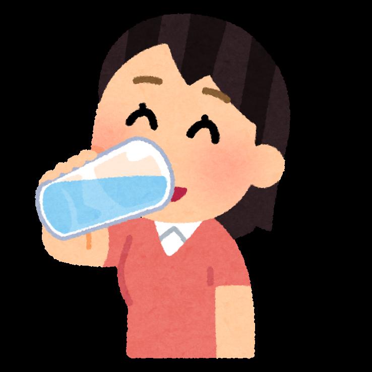 水分補給 水を飲む女性